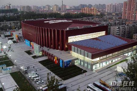 北京科技大学体育馆全景