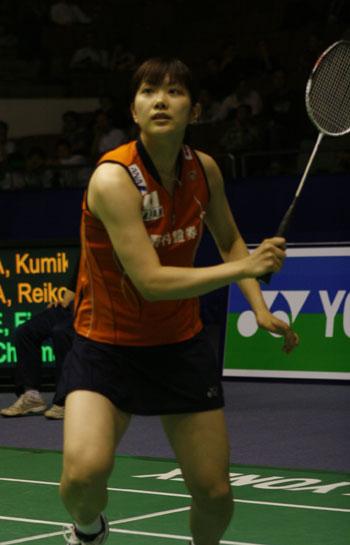 图文:中羽赛日本美女组合晋级次轮 姿势洒脱