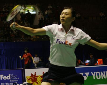 张宁在比赛中(进入组图)