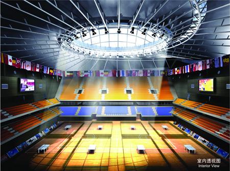 图文:北京大学体育馆 内视图
