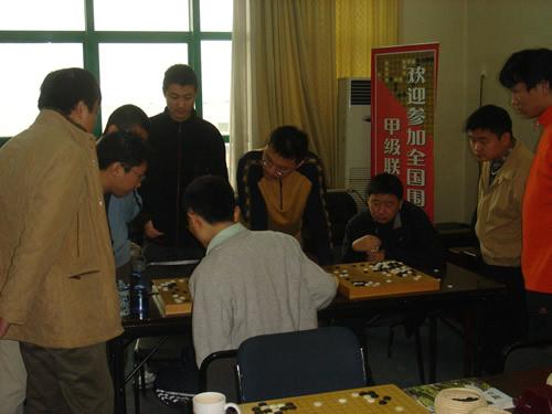 图文:三星杯古力黄奕中抗韩 国家队研究室全景