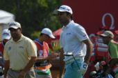 图文:高尔夫世界杯次轮开战 兰德哈瓦面无表情
