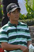 图文:高尔夫世界杯次轮开战 梁文冲充满信心