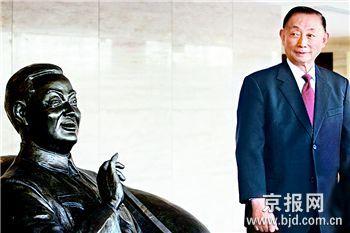 梅葆玖与梅兰芳铜像