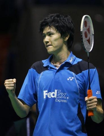 图文:中国羽毛球公开赛 鲍春来为林丹出口恶气