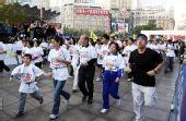 图文:上海国际马拉松赛 4.5公里健康跑受欢迎