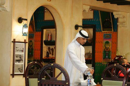 独具阿拉伯风情的参赛选手餐厅
