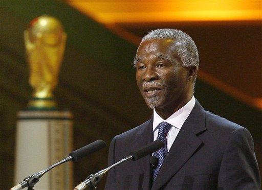图文:[抽签]世界杯预赛抽签 南非总统讲话