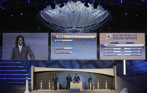 图文:世界杯预赛抽签 意大利同组对手出炉