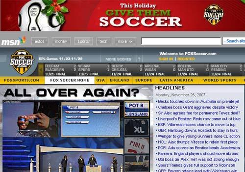 《FOX体育》网站截屏图
