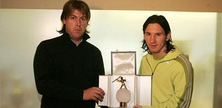 梅西接受《体育战报》的颁奖