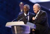 图文:世预赛抽签仪式 国际足联主席布拉特讲话