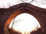 夕阳中的万善桥