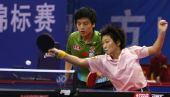 图文:[乒乓球]郝帅刘诗雯夺金 正手抽击