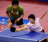 图文:[乒乓球]郝帅刘诗雯夺金 刘诗雯从容不迫