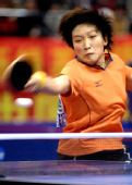 图文:[乒乓球]刘诗雯4-2李晓霞 刘诗雯回球