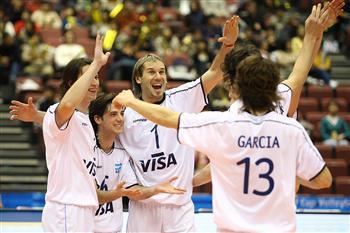 庆祝胜利的阿根廷队