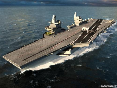 """法国""""戴高乐""""号航母,新研制的航母的排水量约是其两倍.-航母复"""