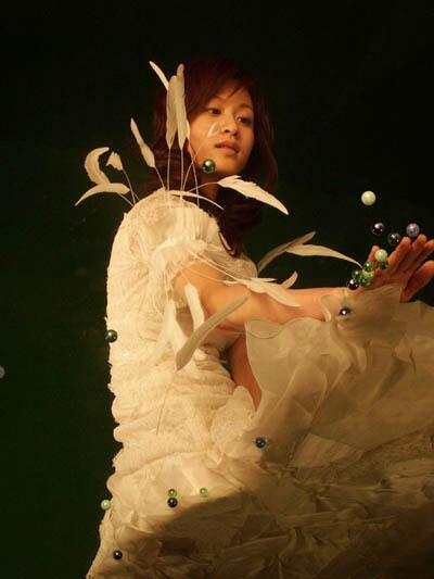 白纱公主白衣裳