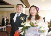 图文:体坛明星婚礼大荟萃 张越红与爱人
