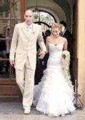 图文:体坛明星婚礼大荟萃 科勒与新娘赫维卡