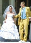 图文:体坛明星婚礼大荟萃 米尔尼和新娘