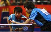 图文:[乒乓球]郭跃/李晓霞夺冠 准备发球