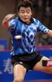 图文:[乒乓球]王皓4-1马龙 王皓正手攻击得分