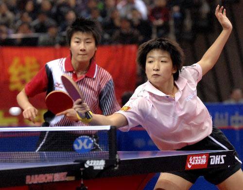 图文:[乒乓球]郭跃/李晓霞夺冠 刘诗雯失利