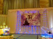 图文:田亮叶一茜婚礼现场 华丽的结婚照片