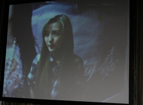 图文:众超女视频祝贺叶一茜新婚 何洁视频贺喜
