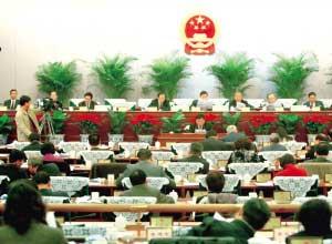昨天,771名新代表资格获审查通过。本报记者 夏永 摄
