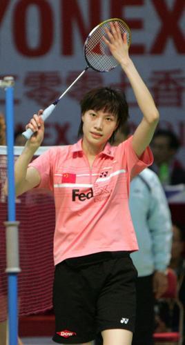 图文:香港羽毛球赛谢杏芳胜拉斯姆森 答谢观众