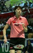 图文:香港羽毛球赛谢杏芳胜拉斯姆森 自我鼓励
