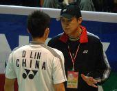 图文:[羽球]香港赛林丹2-0陶菲克 教练指导