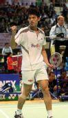 图文:[羽球]香港赛林丹2-0陶菲克 精神振奋