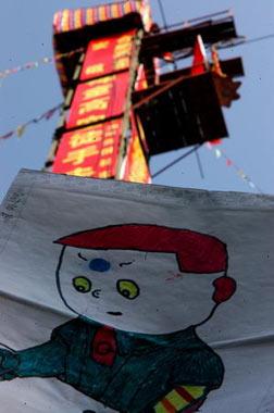 尤东瑞在高空生活中画的第一幅画