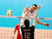 图文:保加利亚男排3-1胜日本 保队重扣得手