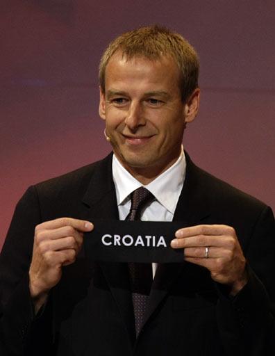 图文:欧洲杯抽签揭晓 克罗地亚被抽出