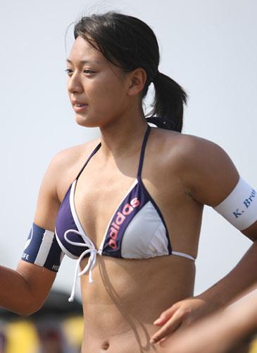 图文:日本沙排美女唯美写真 性感泳装火辣身材