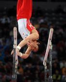 图文:[体操]男子双杠决赛 星阳辅获得第五名