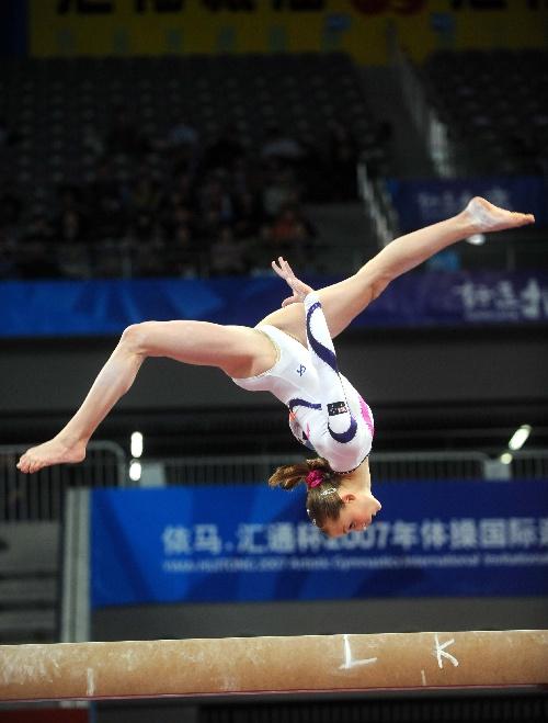图文:[体操]女子平衡木决赛 澳大利亚选手劳伦