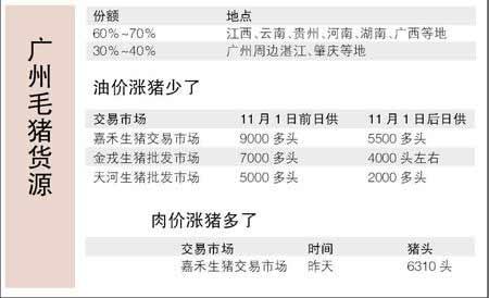 广州毛猪3天连续涨至8.75元每斤  总肉价涨至11元每斤创历年最高价