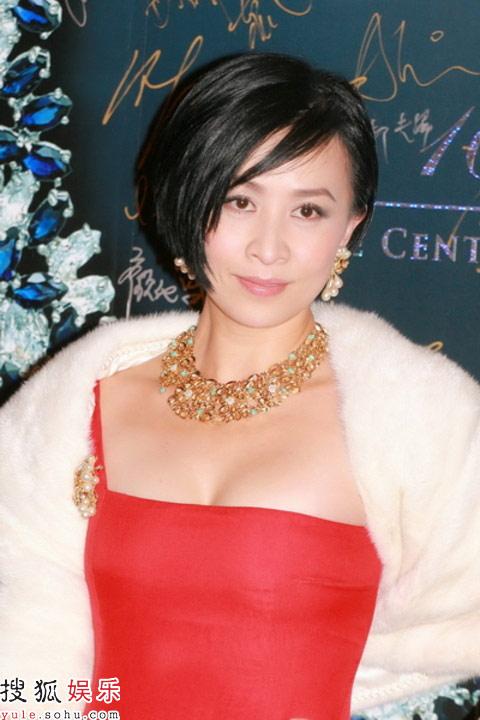 刘嘉玲贵妇装扮优雅高贵