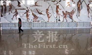 馆内壁画被完整保存
