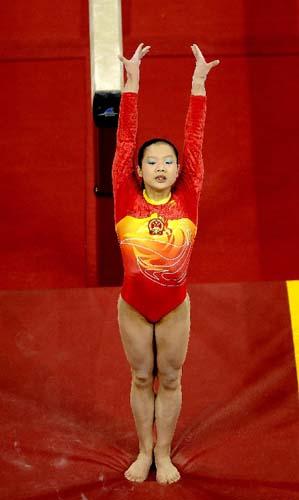 """""""好运北京""""体操国际邀请赛女子平衡木程菲夺冠"""