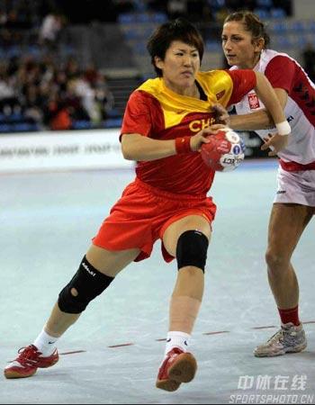 v女子女子手球07体育手球世锦赛图片传真波兰女手20-27中国羽毛球脚发力图片