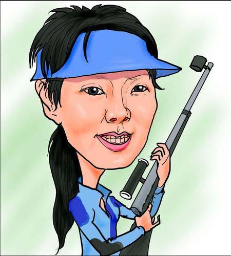 图文:射击美女杜丽赛场内外