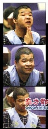 魏晓辉扮鬼脸。