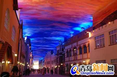 组图:青岛常年美食城落成国家被列天幕aaa级锦美食城吗峰景点v组图图片